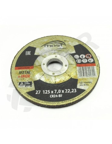 Lihvketas MOST CERAMIC Metal/Inox 27 125*7.0*22 CR24-BF