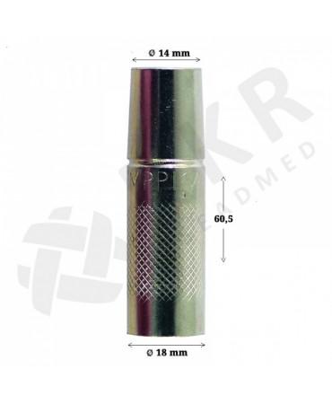 Gaasidüüs MT/MMT/PMT/MMG/FE 18/20/25 ilma isolaatorpuksita