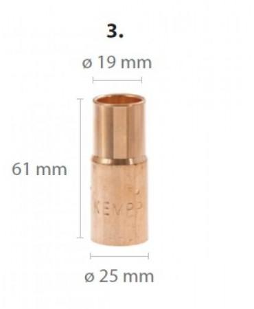 GX gaasidüüs L61mm / D19mm suur (305G, 405W, 428W)
