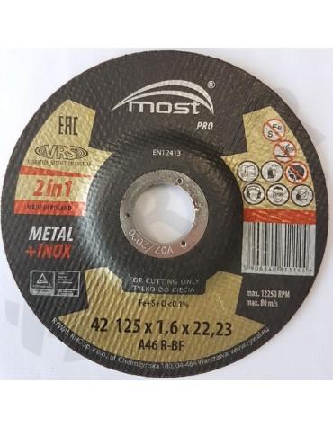 Lõikeketas MOST PRO Metal/Inox 42 125*1.6*22 A46T-BF