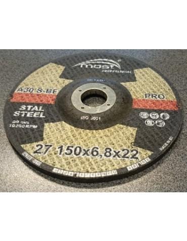 Lihvketas MOST PRO METAL 27 150*6.8*22 A24SBF Pakend 10 tk