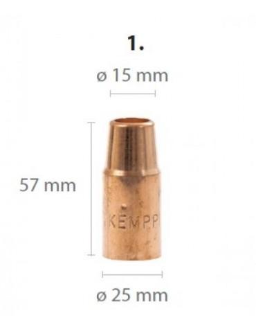 GX gaasidüüs L57mm / D15mm lühike/kooniline (305G, 405W, 428W)