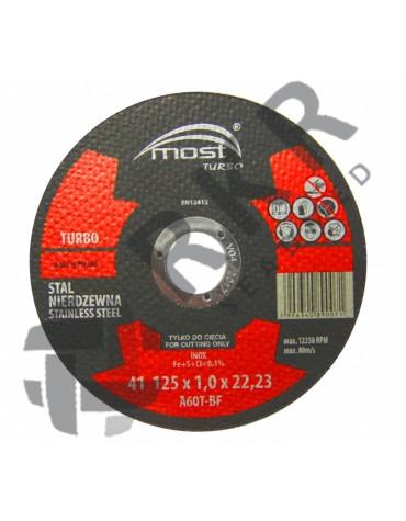 9414125100 - Lõikeketas MOST TURBO 41*125*1.0*22 A60TBF INOX