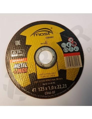 Lõikeketas MOST CERAMIC Metal/Inox 41 125*1.0*22 CR46-BF