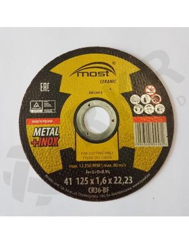 Lõikeketas MOST CERAMIC Metal/Inox 41 125*1.6*22 CR46-BF
