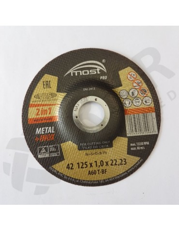 Lõikeketas MOST PRO Metal/Inox 42 125*1.0*22 A46T-BF