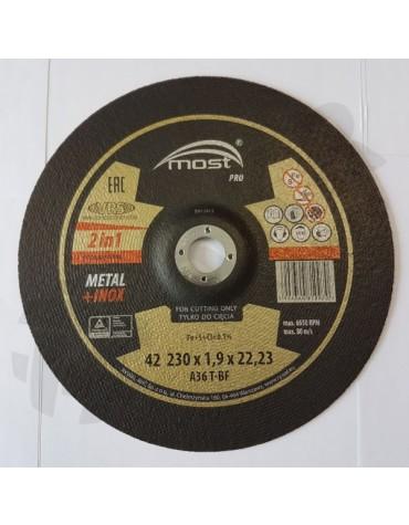 Lõikeketas MOST PRO Metal/Inox 42 230*1.9*22 A46T-BF