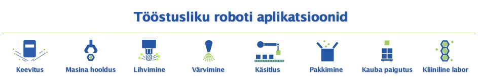 tööstusliku roboti aplikatsioonid